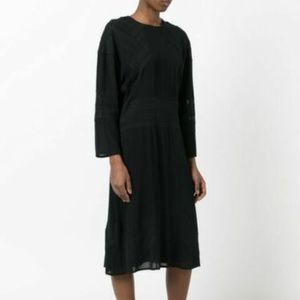 IRO Skaly Midi Dress with Lace Insets - from Damoy